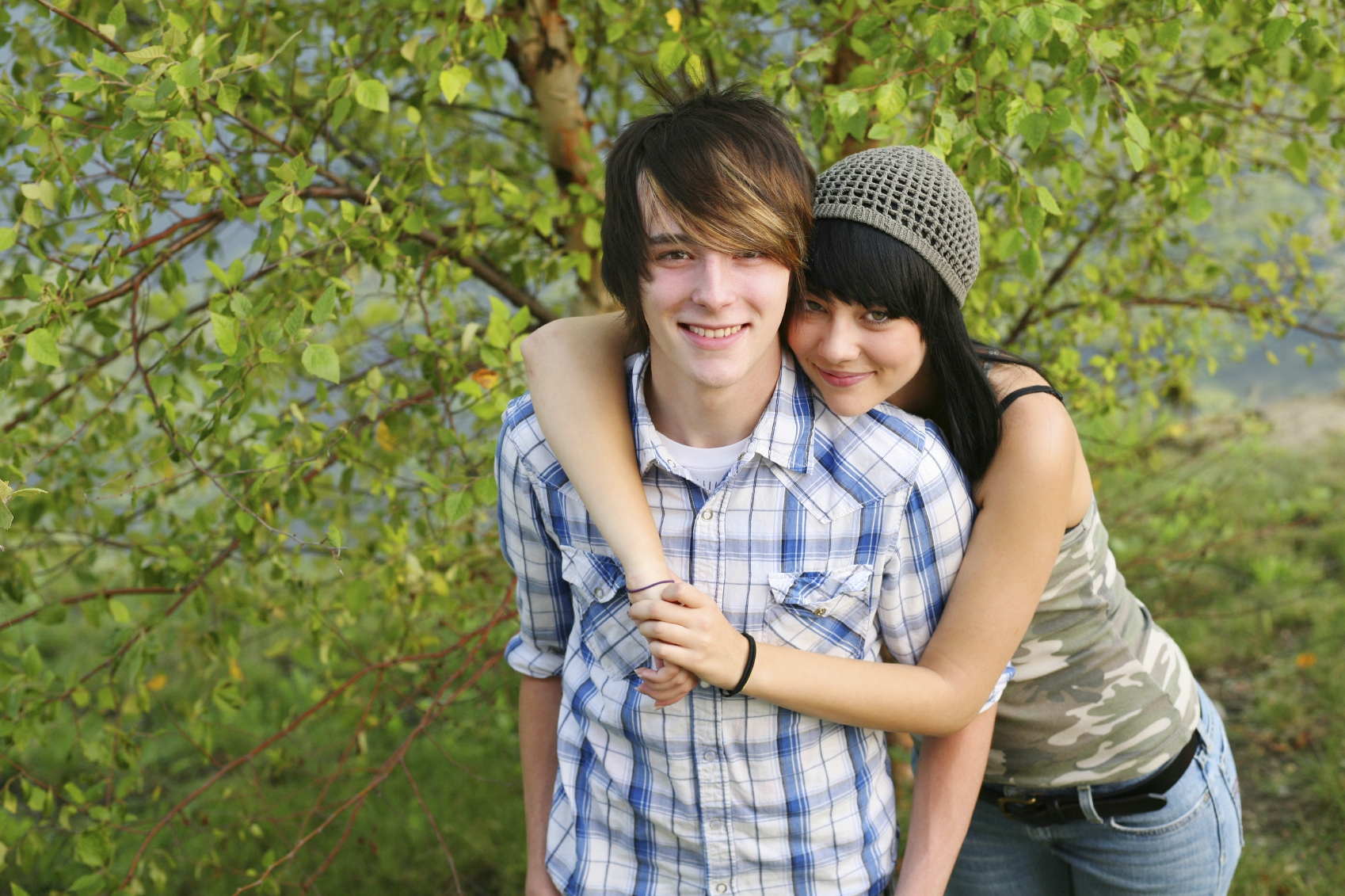 Young teen couple virgin